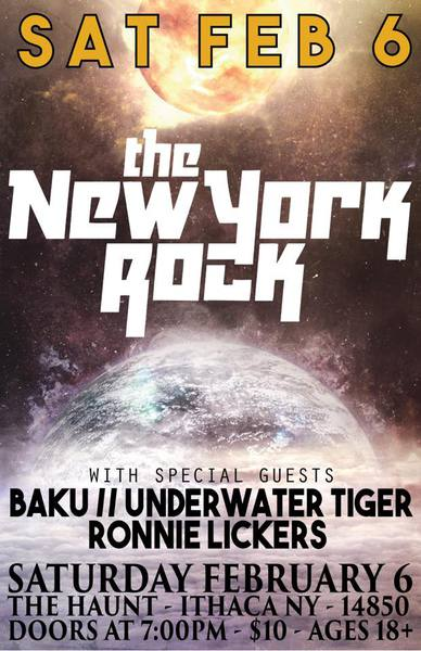 New York Rock Underwater Tiger Poster